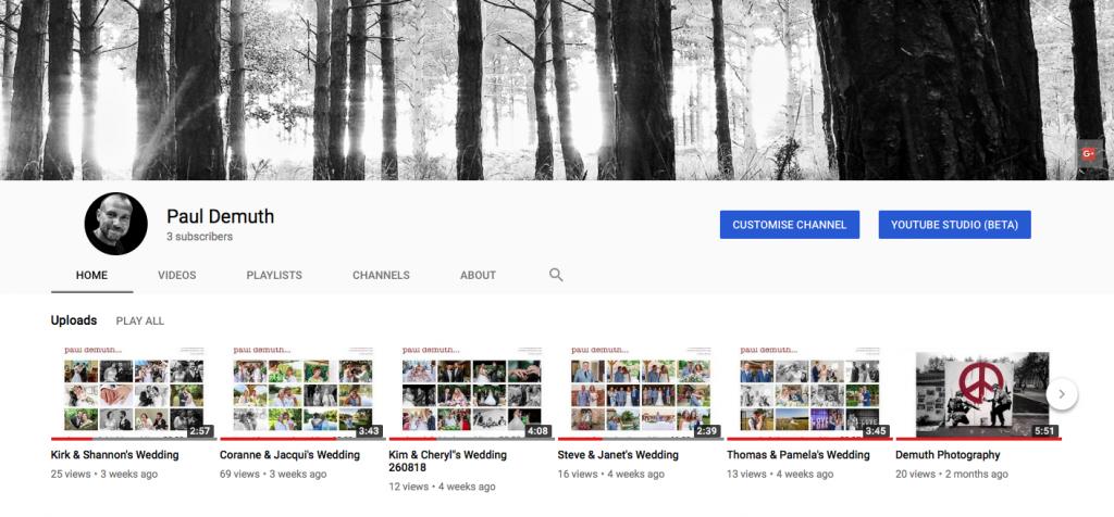 Paul Demuth Youtube Channel Screenshot