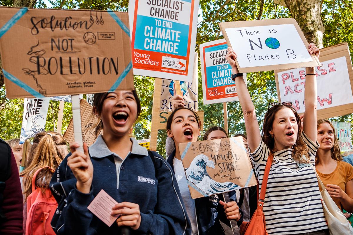 climate strike, youth action, extinction rebellion, green politics, london